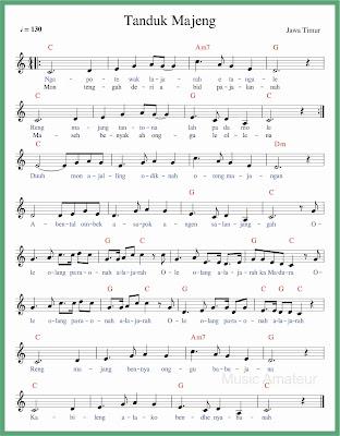 not balok lagu tanduk majeng