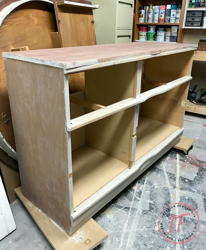 Faux Apothecary Dresser Wood Lined Interior