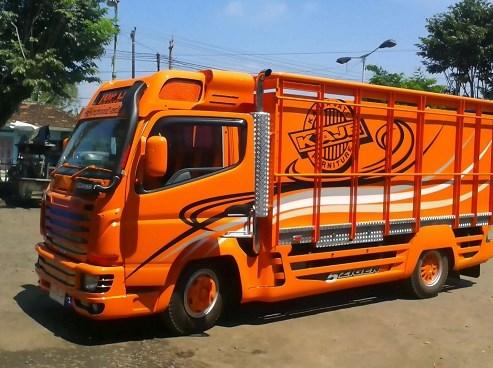 modifikasi warna bak truk ala sakera