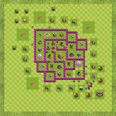 War Base Town Hall Level 7 By OliverDeWolfe (Oliver TH 7 Layout)