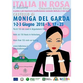 Italia in Rosa, la vetrina dei vini Rosé 1-2-3 giugno Moniga del Garda