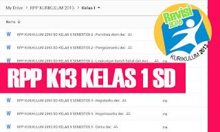 RPP K13 SD Kelas 1 Tema 8 Subtema 1 2 3 4