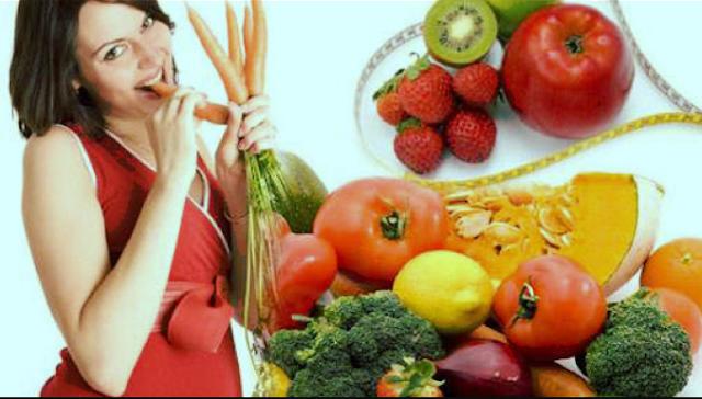 الأكل الصحي أثناء الحمل.