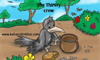 The thirsty crow story in hindi and english
