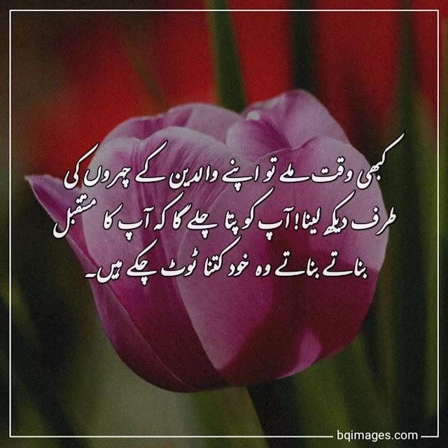 quotes on parents respect in urdu