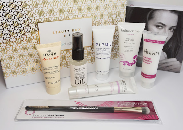 LookFantastic - Beauty Box Oktober 2015, Nuxe, Elemis, Balance Me, Murad, Monu, Percy & Reed, gold