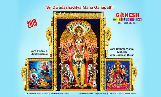 2019 Khairatabad Ganesh - Sri Dwadasa Aditya Maha Ganapati