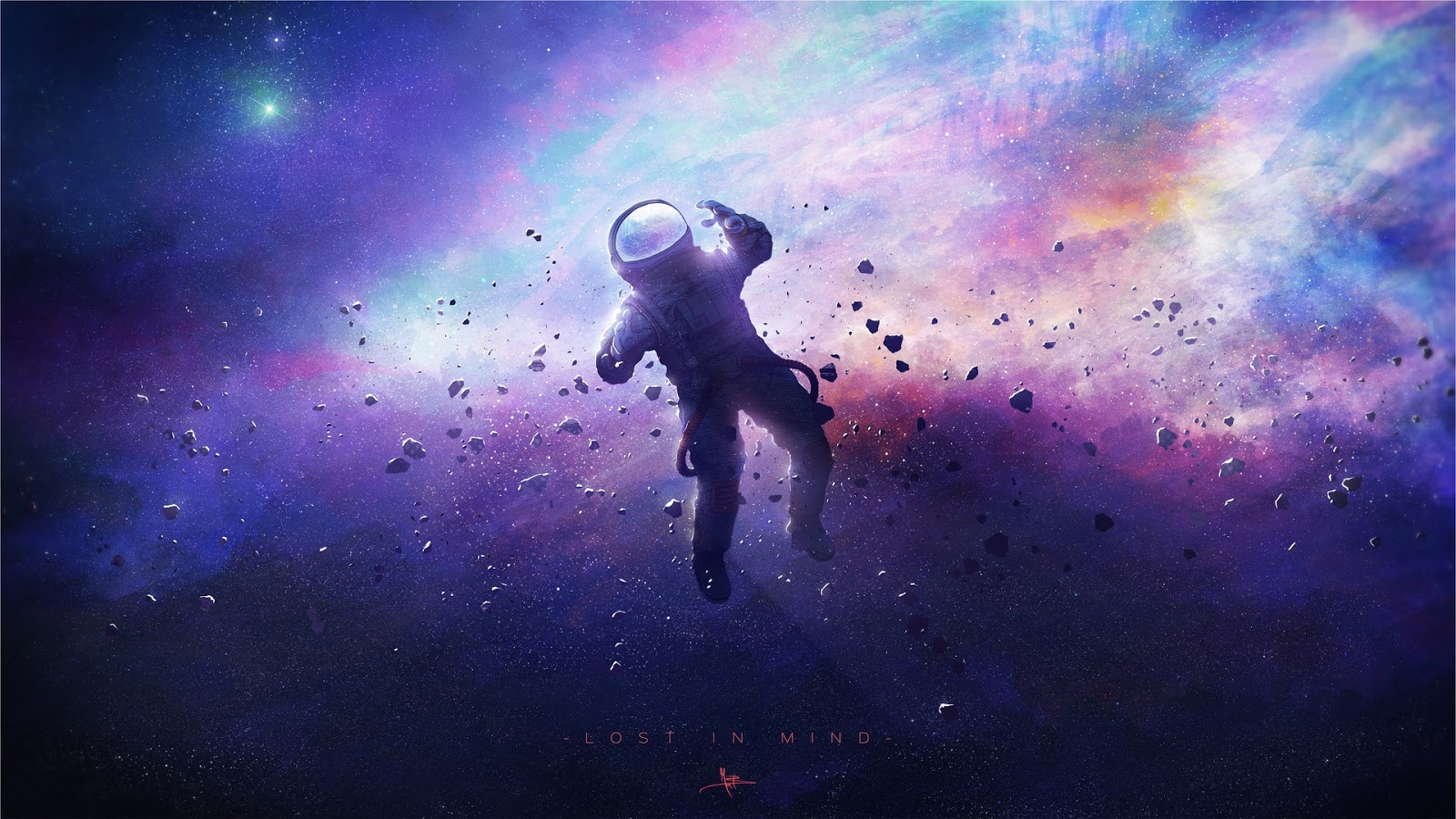 Astronaut, Dream, Galaxy, Stars, Suit, HD, Space