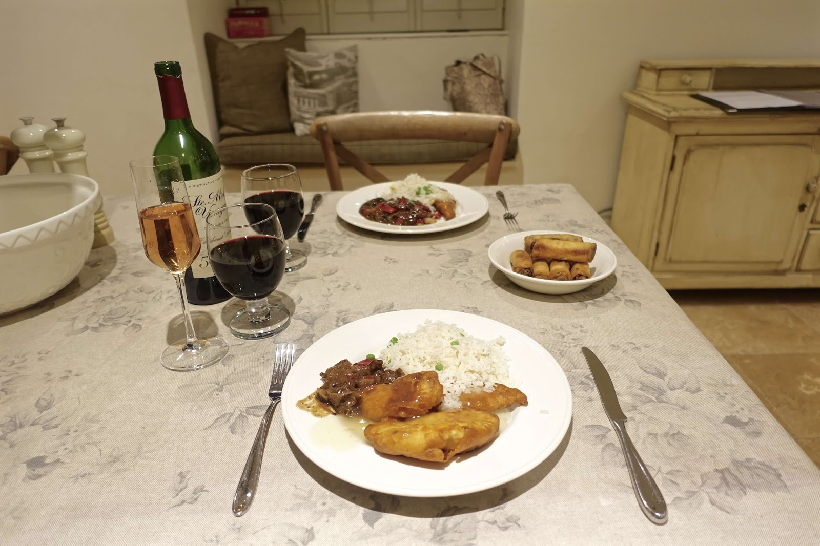 self-catering cottage friday night dinner