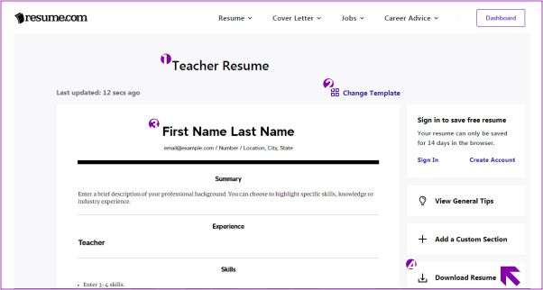 membuat resume secara online melalui Resume.com