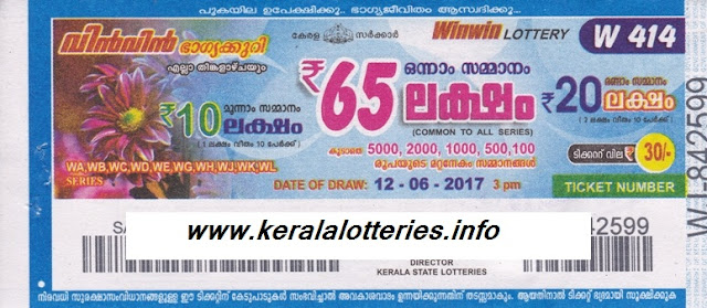 Kerala Weekly Lottery Win Win)W-416