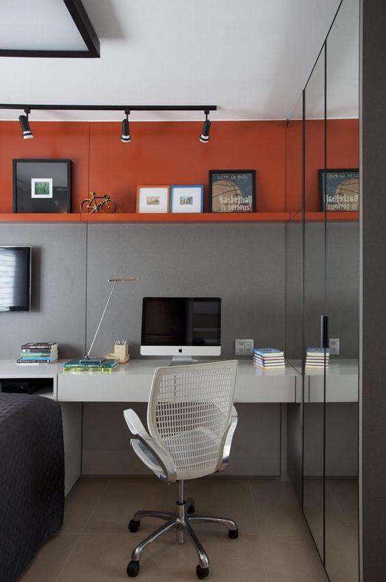 decoração de home office moderno masculino
