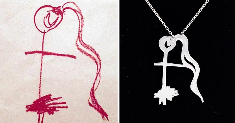 Seniman Mengubah Gambar Anak-Anak mereka Menjadi Perhiasan ...