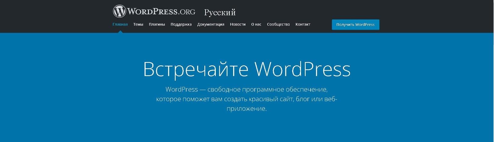 wordpress-glavnaya-stranicza