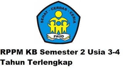RPPM KB Semester 2 Usia 3-4 Tahun