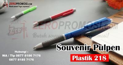 Souvenir Pulpen Plastik Kode 218, Pulpen Promosi Termurah, Souvenir Pen Murah Pulpen Plastik 218