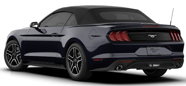 Ford Mustang EcoBoost Convertible Taillights and exhaust