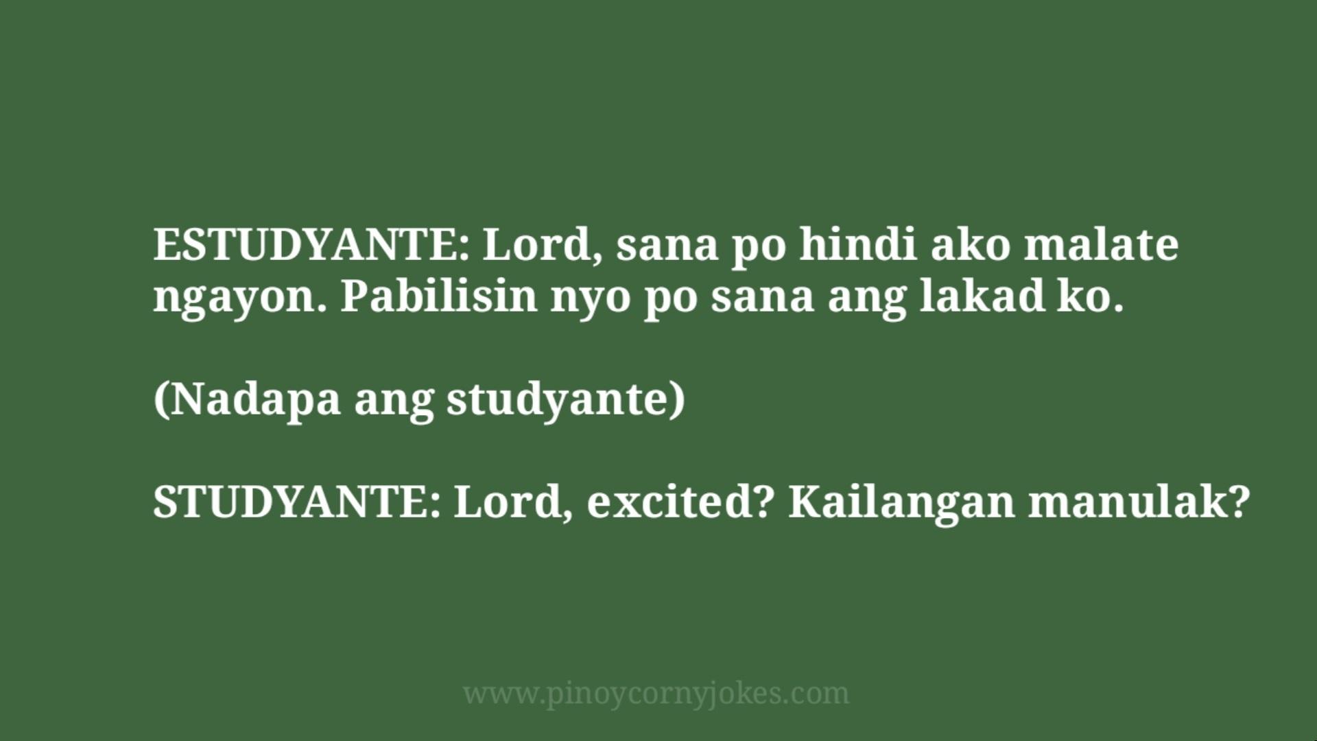 Late estudyante tagalog jokes 2021