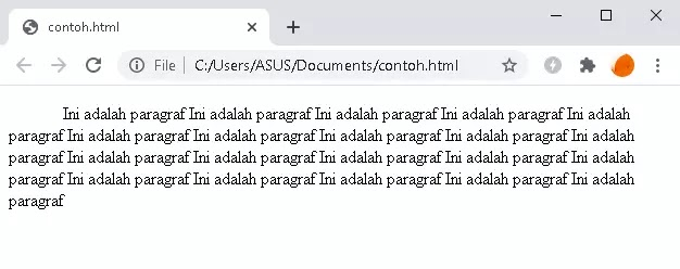 text indent