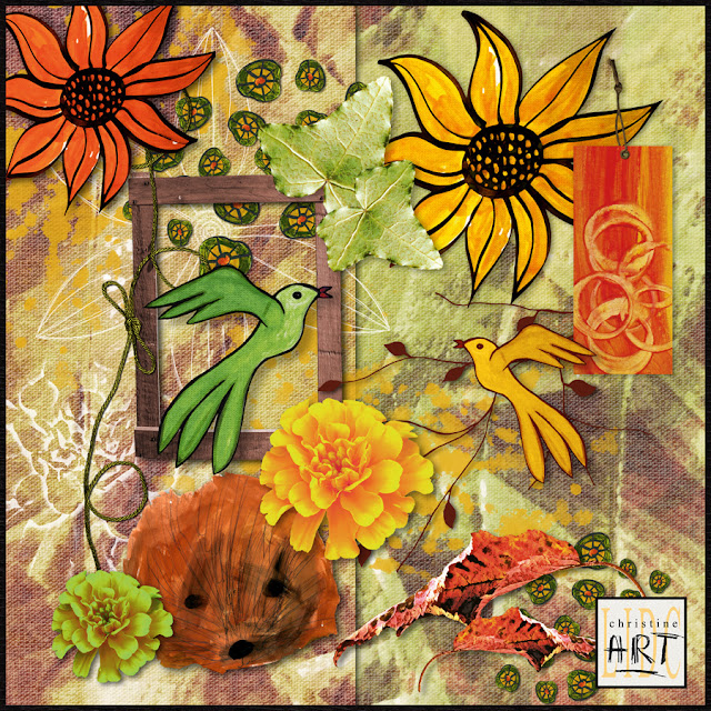Christine Art - mini kit free - autumn colors