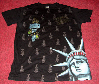 Christian Audigier Shirt Large Heavy Metal Goth Punk Beautiful Los Angeles rare
