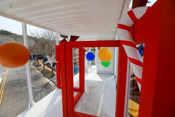 台中沙鹿鴻豫建設貨櫃屋裝置藝術,網美拍照打卡景點,免費參觀