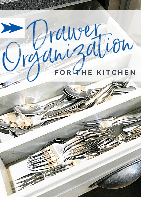 drawer organizer with silverware