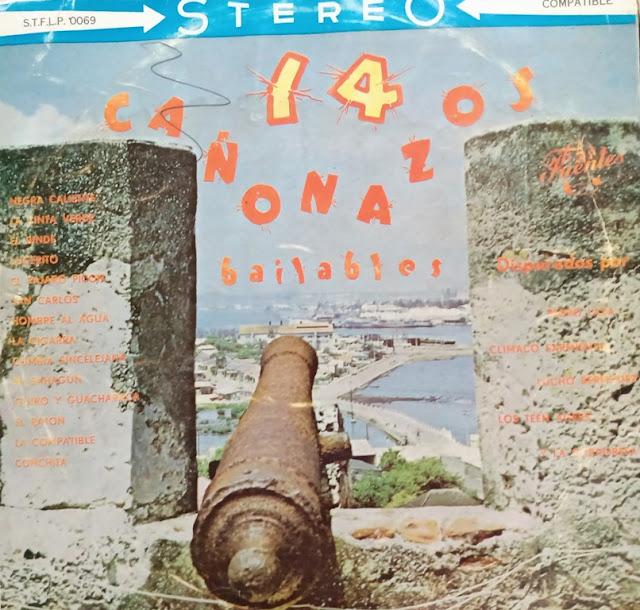 El volumen 1 de 14 Cañonazos Bailables que salió en octubre de 1961, a un precio de 60 centavos de la época.