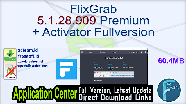 FlixGrab 5.1.28.909 Premium + Activator Fullversion