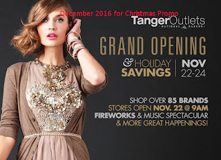 free Tanger Outlet coupons december 2016