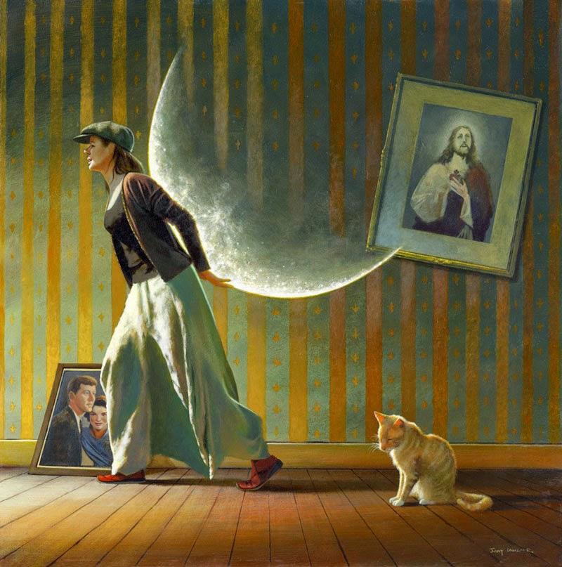 Deixando Tudo Para Trás - Um mundo encantador pintado por Jimmy Lawlor