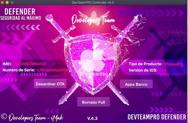 iCloud DevTeamPRO Defender V4.3 Unlocker Tool Free Download
