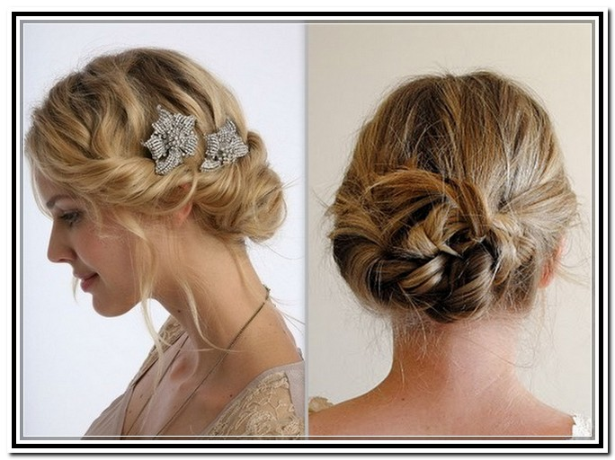Prom Updos For Short Hair Front And Back Hairstyles Medium 3