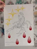скорпион тату