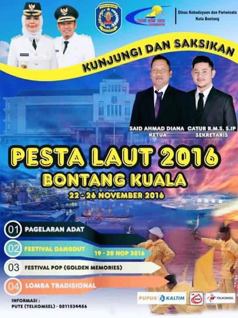 Pesta Laut Bontang Kuala , 22 - 26 November 2016