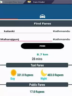 Taxi Fares Nepal - Fare Finder App