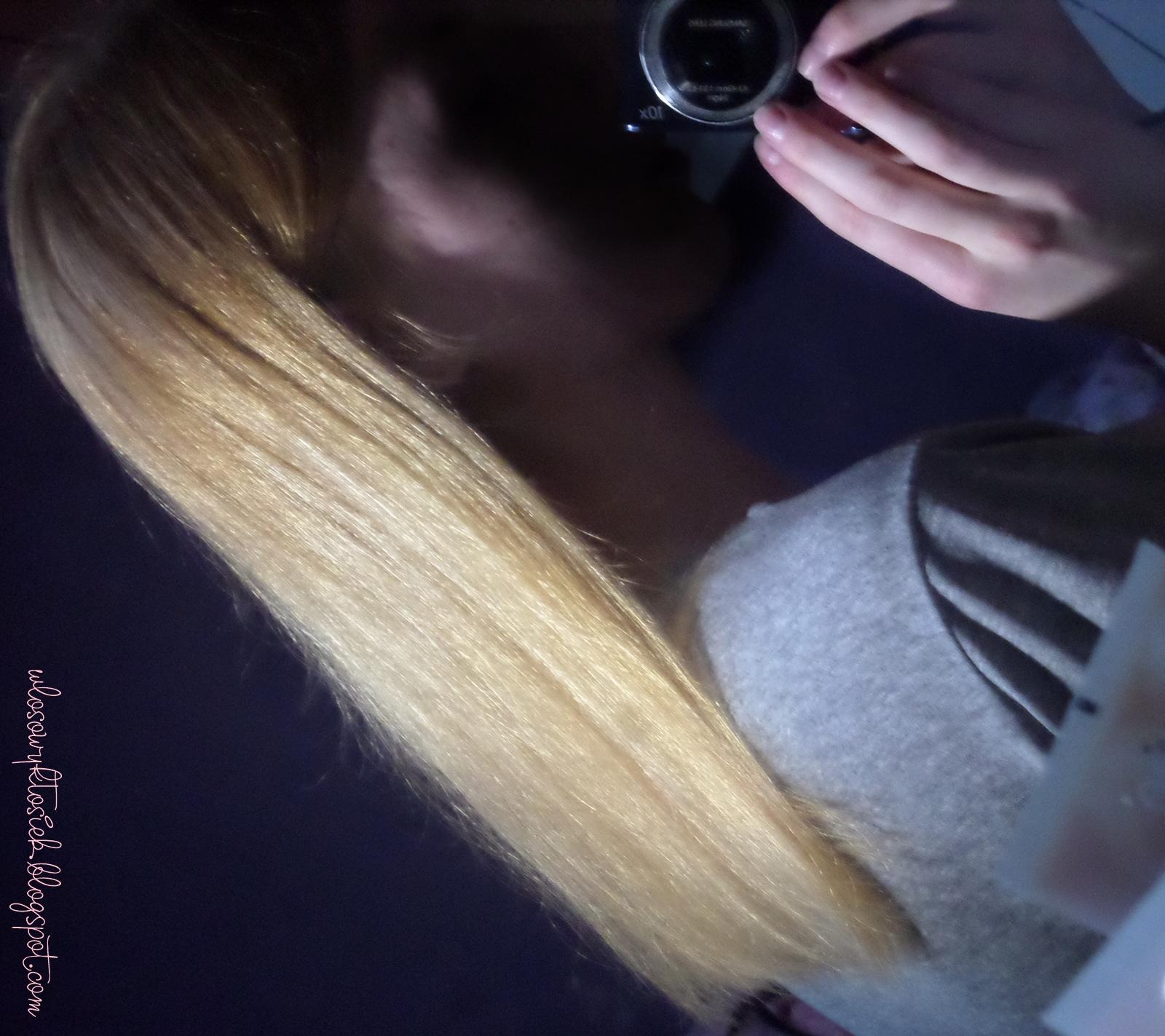 Niedziela dla włosów # 11- Być jak Kasia Solska, czyli kręcenie włosów na skarpetę (próbne podejście)