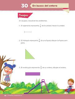 Apoyo Primaria Desafíos Matemáticos 4to. Grado Bloque II Lección 30 En busca del entero