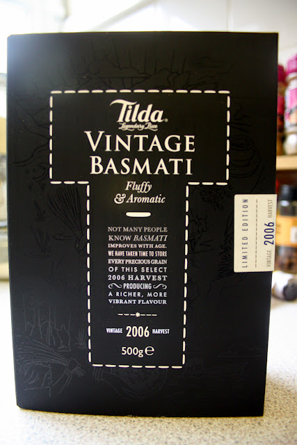 A box of Tilda Vintage Basmati Rice