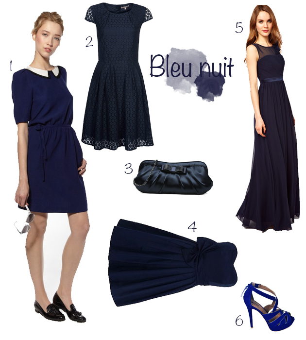 top robes blog robe pour mariage bleu marine. Black Bedroom Furniture Sets. Home Design Ideas