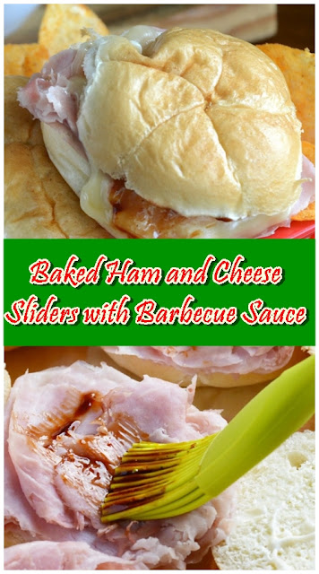 Baked Ham and Cheese Sliders with Barbecue Sauce