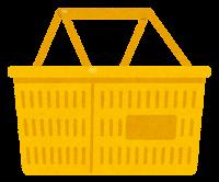 買い物かごのイラスト(黄色)