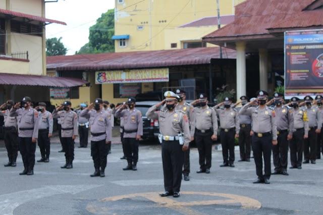 Upacara Korps Raport Kenaikan Pangkat Pengabdian, Perwira dan Bintara Berjumlah 29 Personil di Polres Pematang Siantar