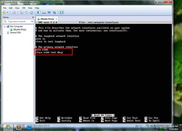 machine on ubuntu server