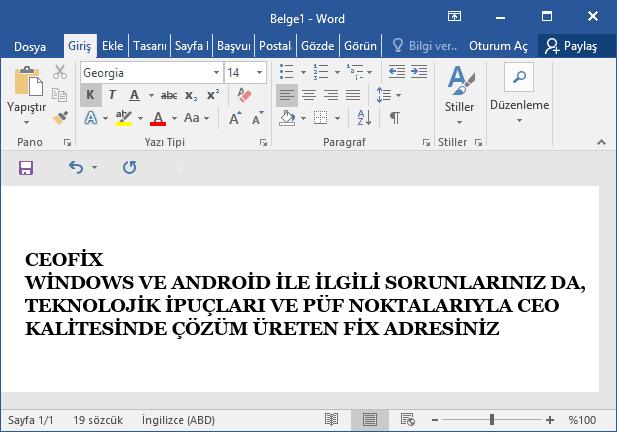 word belgesi büyük harf- www.ceofix.com