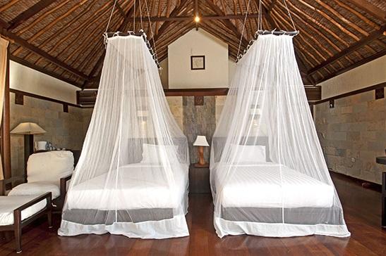 twin bed room villa kura kura resort karimunjawa