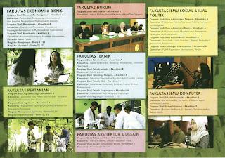 tampilan depan brosur upn surabaya 2019