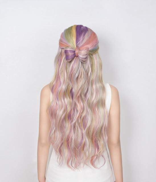Jawbreaker l Colorful Long Straight Lace Front Wig