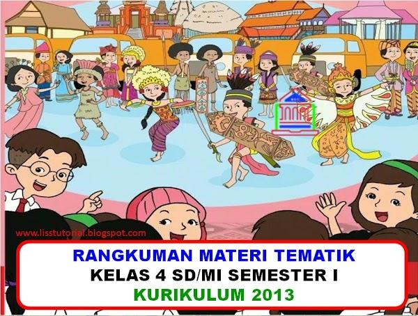 Rangkuman Materi Dan Soal BDR Tematik Kelas 4 SD/MI Kurikulum 2013