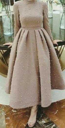 فستان سوارية محجبات كاشمير